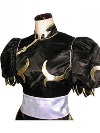 Street Fighter Chun Li Black Fighting Game Halloween Cosplay Costume
