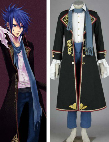 Vocaloid Kaito Five-piece Anime Halloween Cosplay Costumes