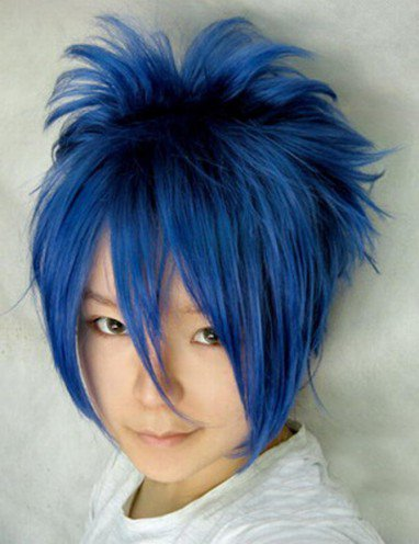 Vocaloid kaito cyaneous short wig