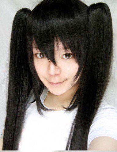 Vocaloid Black Long Straight Hair