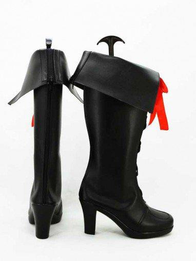 AKB0048 Cosplay Hikari Kimishima Black Cosplay Boots