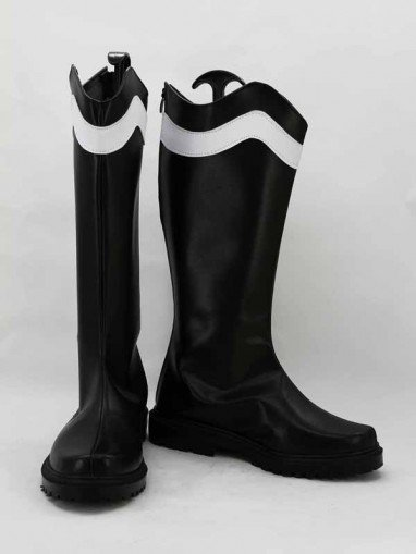 Akame Ga Kill! Bulat Black & White Cosplay Combat Boots