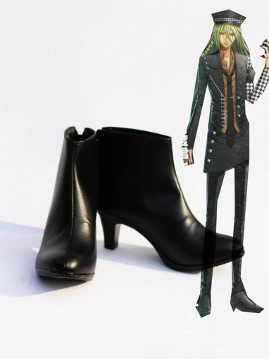 Amnesia Cosplay Ukyo Artificial Leather Short Boots