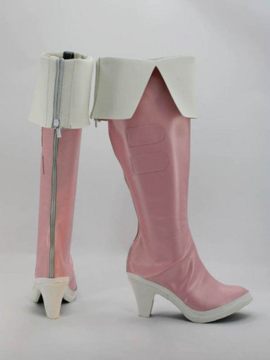 Idolm@ster Azusa Miura Pink Female Hight Heel Cosplay Boots