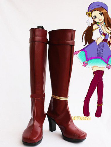 Idolm@ster Iori Minase Female Hight Heel Cosplay Boots
