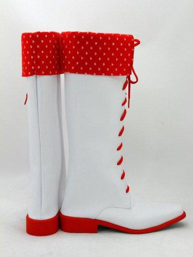 Idolm@ster Movie Amami Haruka Red & White Cosplay Boots
