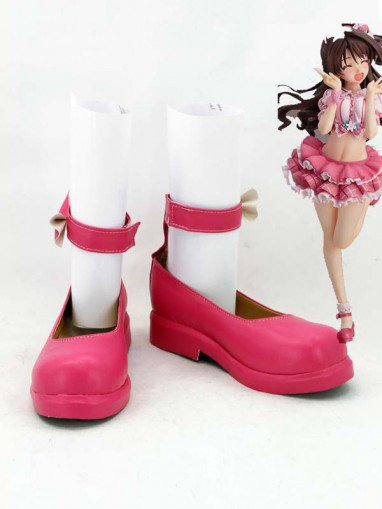 The Idolmaster Uzuki Shimamura Pink Cosplay Shoes