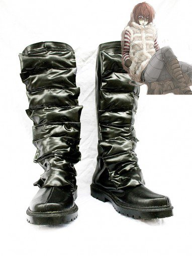 Death Note Cosplay Matt Black Leather Cosplay Boots