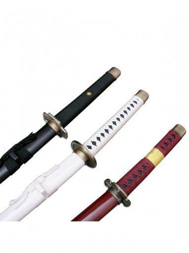 One Piece Cosplay Roronoa Zoro Whole 3 Cosplay Wood Swords