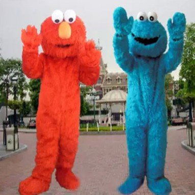 Elmo Cartoon Dolls Cartoon Clothing Cookie Red Frog Blue Frog Walking Doll Clothing Mascot Costume