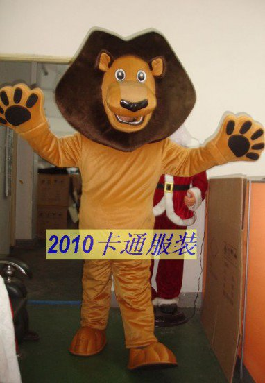 Cartoon Costumes Walking Cartoon Doll Clothing Clothing Costumes Madagascar Lion Mascot Costume