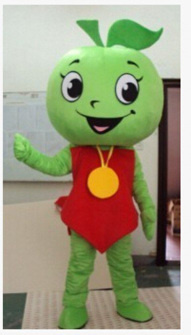 Apple Walking Doll Cartoon Clothing Cartoon Clothing Advertising Green Apple Cartoon Costumes Mascot Costume