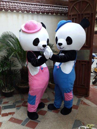 Cartoon Costumes Cartoon Doll Clothing Couple Panda Costumes Panda Costume Wedding Celebration Mascot Costume