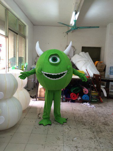 Cartoon Doll Clothing Green Eyes Walking Doll Cartoon Clothing Sets Head Cos Props Green Eyes Mascot Costume