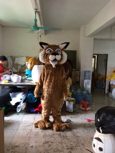 Long-haired Tiger Costume Cartoon Doll Clothing Cartoon Show Clothing Celebration Supplies Overseas Edition Doll Props Mascot Costume