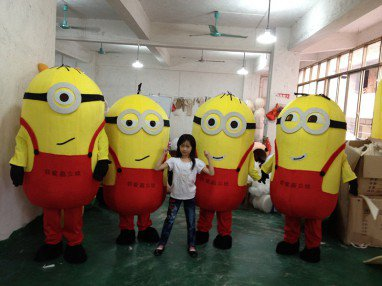 Xiao Huang Huang Doudou Person Walking Cartoon Doll Clothing Cartoon Dolls Despicable Me Doll Clothes Mascot Costume