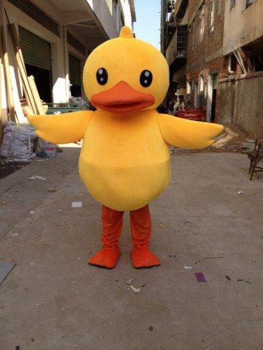 Big Yellow Duck Cartoon Clothing Cartoon Walking Cartoon Dolls People Dress Costumes Performing Props Big Yellow Duck Mascot Costume