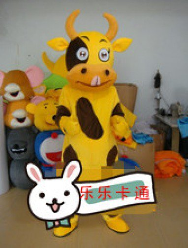 Cartoon Dolls Walking Cartoon Doll Clothing Performance Clothing Cartoon Dolls Cartoon Doll Mouth Cow Mascot Costume