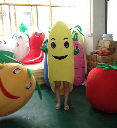 Fruit Banana Fruit Card Cartoon Clothing Cartoon Show Clothing Doll Clothing Activities Through Fruit Cartoon Channel Mascot Costume