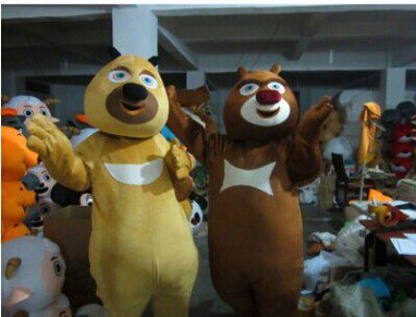 Bear Haunt Xiong Xiong Erguang Head Strong Cartoon Doll Clothing Doll Clothing Road Show Activities Performed Mascot Costume
