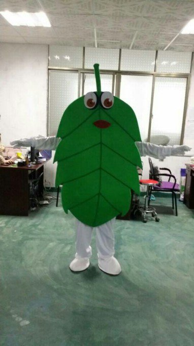 Cartoon Walking Doll Clothing Props Green Leaves Adult Doll Clothes People Wear Clothing Mascot Costume