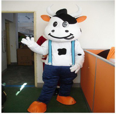 Mengniu Dairy Cow Cartoon Dolls Walking Cartoon Doll Clothing Cartoon Show Props Walking Dolls Clothing Mascot Costume