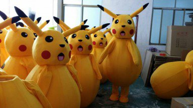 Pikachu Dolls Walking Cartoon Costumes Stage Performance Animation Cartoon Dolls Dolls Cartoon Costumes Mascot Costume