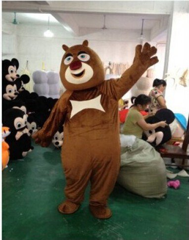 Xiong Xiong Erguang Head Strong Cartoon Clothing Costumes Cartoon Doll Clothing Cartoon Bear Infested Mascot Costume