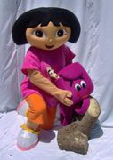 Duo Laka Through Dolls Cartoon Clothing Cartoon Show Clothing Duo Laka Through Dolls Duo Laka Through Dolls Table Mascot Costume