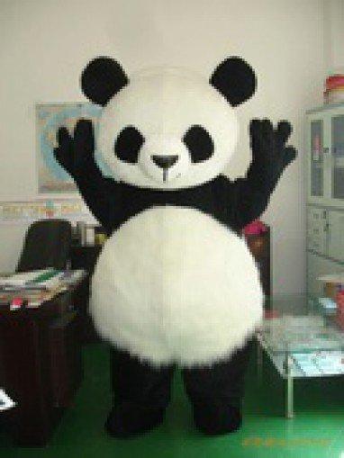 Long Hair Panda Cartoon Costumes Cartoon Doll Cartoon Props Cartoon Mascot Costume