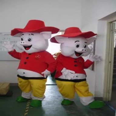 Happy Pig Cartoon Walking Doll Clothing Doll Clothing Doll Clothing Doll Clothing Cartoon Costumes Mascot Costume