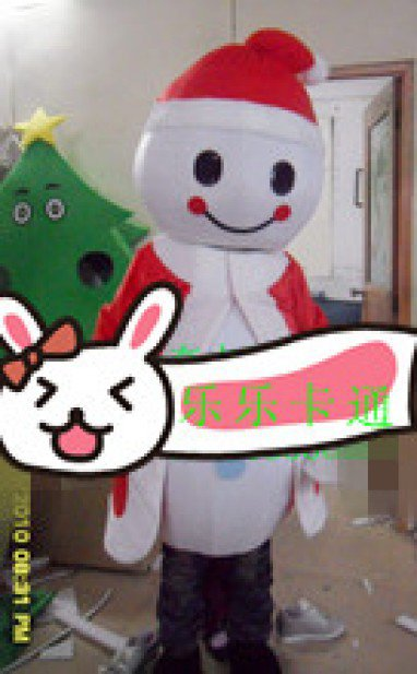 Santa Claus Walking Cartoon Doll Clothing Stuffed Christmas Show Big Earners Wedding Mascot Costume
