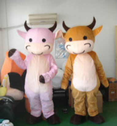 Small Cattle Small Pink Cow Walking Doll Cartoon Doll Clothing Cartoon Show Clothing Props Cow Mascot Costume