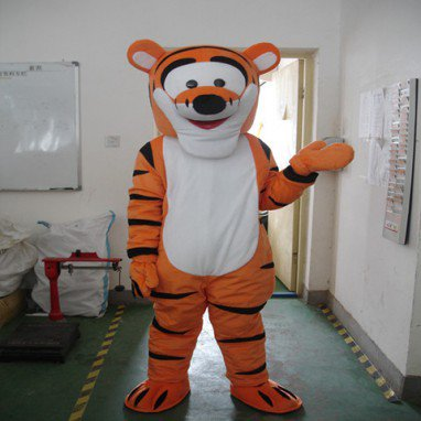 Winnie The Pooh Tigger Dolls Walking Cartoon Doll Clothing Tiger Animal Character Doll Costumes Clothing Mascot Costume