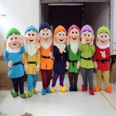 Seven Dwarfs Cartoon Clothing Cartoon Doll Clothing Doll Clothing Doll Costumes Mascot Costume