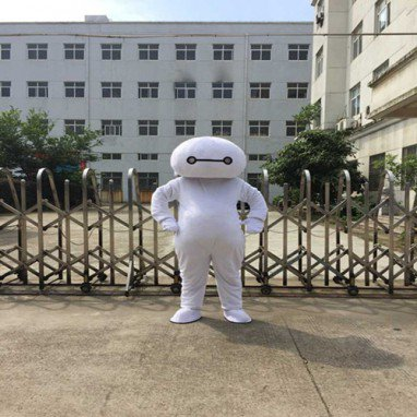 Cartoon Doll Clothing Corps White People Wearing White Walking Doll Props Doll Clothes Mascot Costume