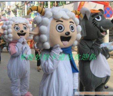 Cartoon Doll Clothing Cartoon Costumes Cartoon Doll Clothing Frankie Wolf Pleasant Mascot Costume