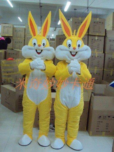 Gold Bugs Bunny Cartoon Costume Cartoon Character Costumes Cartoon Doll Clothing Cartoon Clothing Gold Rabbit Mascot Costume