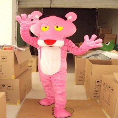 Leopard Pink Panther Cartoon Dolls Clothing Walking Cartoon Dolls Cartoon Clothing Performance Props Mascot Costume