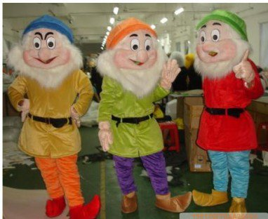 Manufacturers Dolls Walking Cartoon Doll Clothing Cartoon Costumes Cartoon Clothing Seven Dwarfs Mascot Costume