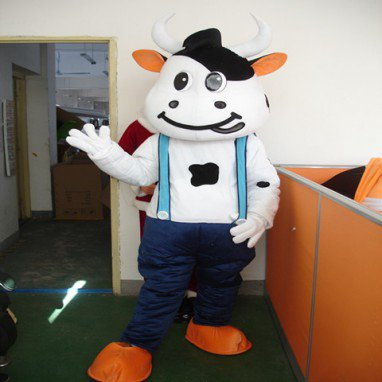 Mengniu Baby Cow Cartoon Dolls Walking Cartoon Doll Clothing Doll Clothing Costumes Cartoon Costumes Mascot Costume