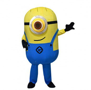 Small Yellow Man Cartoon Plush Dolls Walking Cartoon Doll Clothing Props Performance Clothing Despicable Me Daddy Mascot Costume