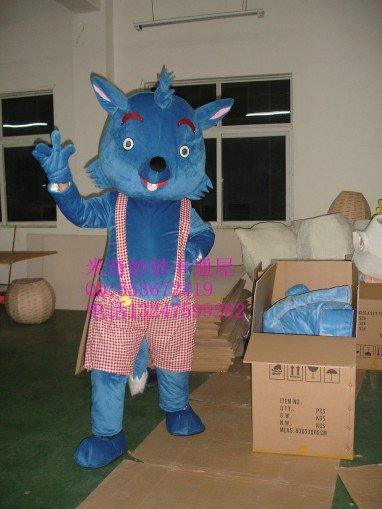 Walking Cartoon Doll Clothing Cartoon Clothing Wolf Small Gray Son Mascot Costume