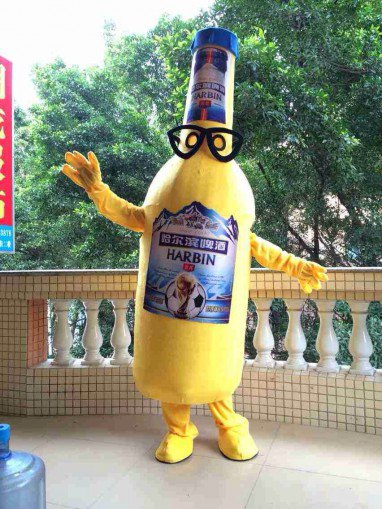 Cartoon Costumes Walking Cartoon Dolls Cartoon Doll Dress Performance Props Bottle Beer Bottles Mascot Costume