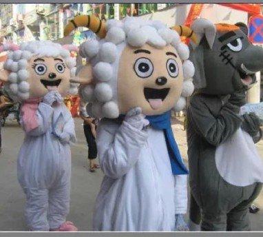 Cartoon Costumes Walking Cartoon Dolls Cartoon Doll Dress Performance Props Sheep Mascot Costume