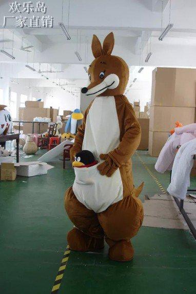Cartoon Costumes Walking Cartoon Dolls Cartoon Doll Dolls Dress Performance Props Kangaroo Mascot Costume