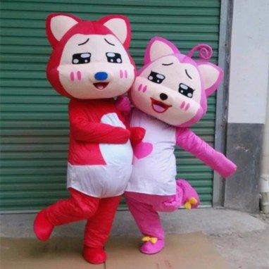 Cartoon Costumes Walking Cartoon Dolls Cartoon Doll Dress Performance Props A Beaver Peaches Mascot Costume