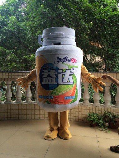 Cartoon Costumes Walking Cartoon Dolls Cartoon Doll Dress Performance Props Benefits of Chewing Gum Bottle Mascot Costume
