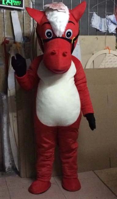 Cartoon Doll Cartoon Clothing Cartoon Dolls Walking Cartoon Doll Clothing Performance Props Red Horse Mascot Costume