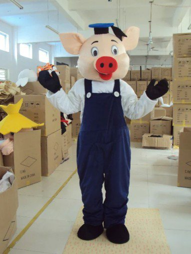 Cartoon Costumes Walking Cartoon Dolls Cartoon Clothing Performance Props Male Piglets Mascot Costume